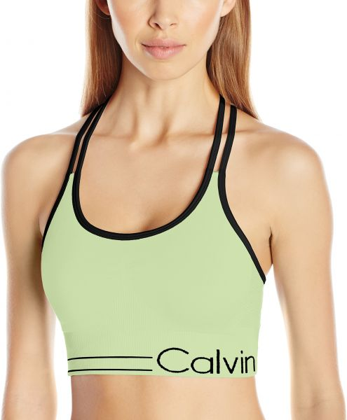 47f60ea991 Calvin Klein Performance Women s Long Line Strappy Bra W  Ruched ...