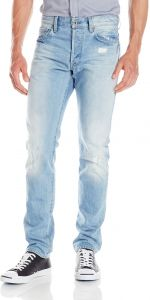 5f90a517074 G-Star Raw Men's 3301 Tapered Leg Jean in Wisk Denim Light Aged Destroyed,  Light Aged Destroy, 36x30