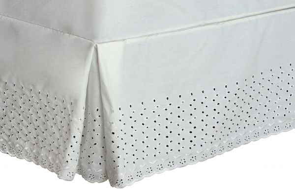 American Curtain And Home 60 Inch By 80 Inch Deanna Bed Skirt Queen