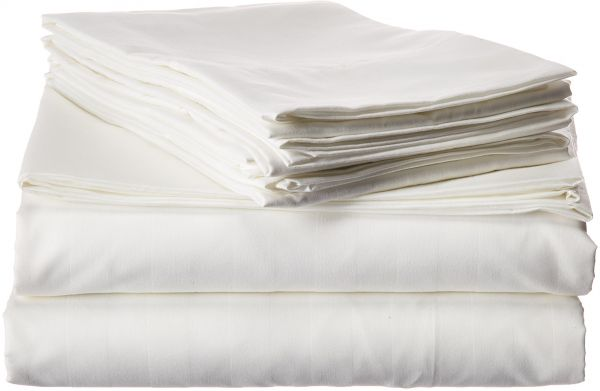 1500 Thread Count Egyptian Quality Luxurious Wrinkle Resistant 6 Piece Damask Stripe Bed Sheet Set Deep Pocket Queen White 00rw 6pc