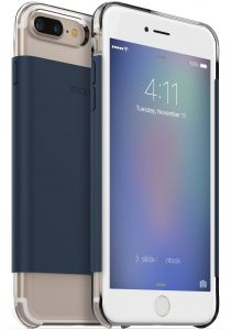 mophie Hold Force wrap Base Case for iPhone 8 Plus, iPhone 7 Plus - Navy