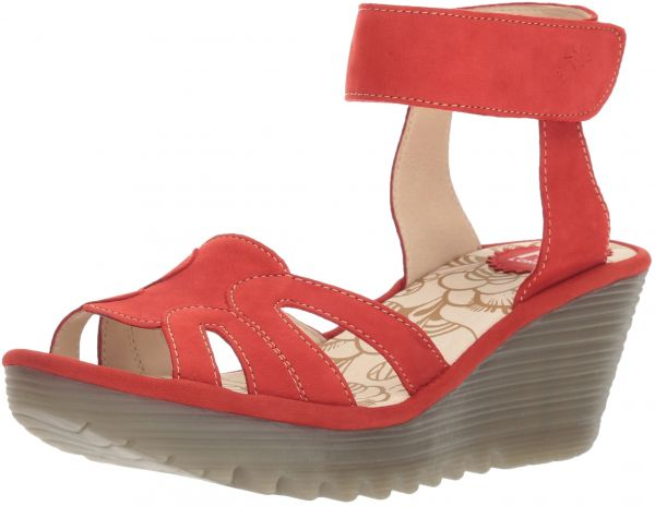 d4bd7af1b0 FLY London Women's YASA750FLY Wedge Sandal, Scarlet Cupido, 37 M EU (6.5-7  US) | Souq - UAE