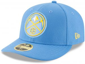 9f7be4e9cf0 New Era NBA Denver Nuggets Adult Bevel Team Low Profile 59FIFTY Fitted Cap