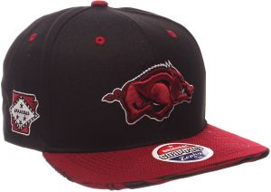 da21b6fdd0e Zephyr NCAA Arkansas Razorbacks Adult Men s Drop Step Snapback Hat