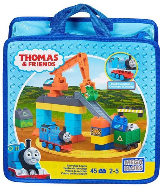 Mega Bloks 45 Piece Thomas And Friends Toy Recycling Center