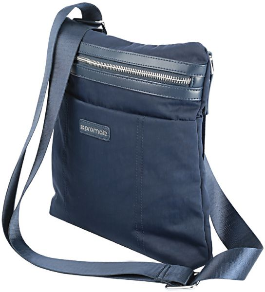 Promate Tablet Shoulder Bag Stylish Multifunction Business With Adjule Strap And Secure Storage Pockets For Ipad Pro Mini