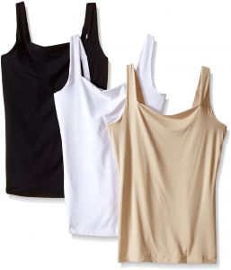 e641ed1a9ceef Flexees Women s Maidenform Shapewear Fat Free Dressing Tank 3 Pack Bundle