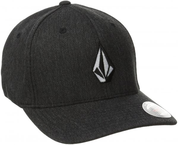 Volcom Men s Full Stone Heather Flexfit Stretch Twill Hat f529d0d3847