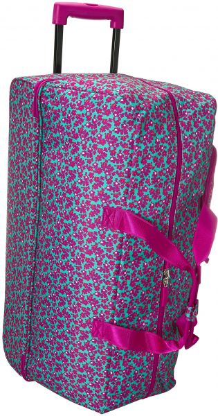 vera bradley women s lighten up printed rolling backpack ditsy dot ... 71dfa13405b8d