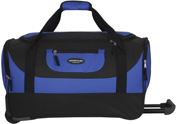 TPRC 21 Adventure Rolling Duffel Constructed with Honeycomb Designed RIP-STOP Material Includes Dual Side Pockets and Front Accessory Pocket Gray Color Option