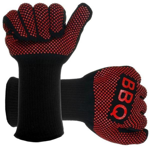 Heat Resistant BBQ Grill   Silicone Mitts Heat Proof Glove High Temperature Protection