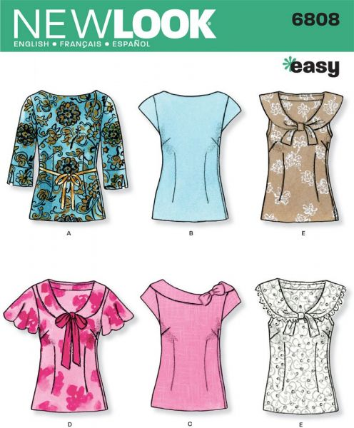 Souq | New Look Sewing Pattern 6808 Misses Tops, Size A (8-10-12-14 ...