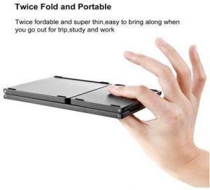 MT03 Wireless Foldable Keyboard Bluetooth with Touchpad , USB Rechargeable  , Portable for Tablet , Pad , Phone , Smart TV , Android TV Box , Raspberry