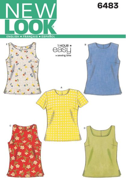 Souq | New Look Sewing Pattern 6483 Misses Tops, Size A (6-8-10-12 ...