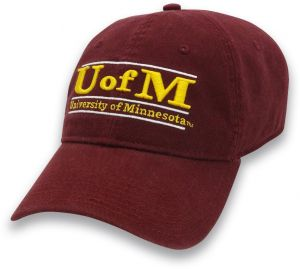 c8a3f2ba The Game NCAA Minnesota Golden Gophers Adult Classic Adjustable Hat, Maroon