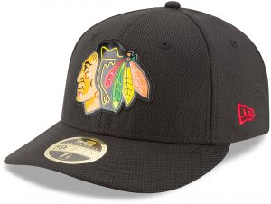 a7221ccc4bf New Era NHL Chicago Blackhawks Adult Bevel Team Low Profile 59FIFTY Fitted  Cap
