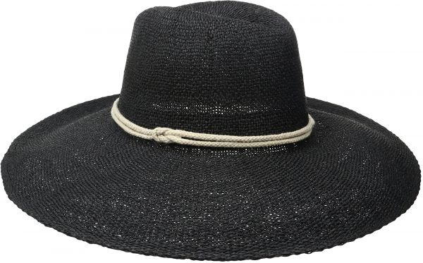 8d5ba382dd4 ale by Alessandra Women s Praia Woven Toyo Hat with Contrast Rope Trim