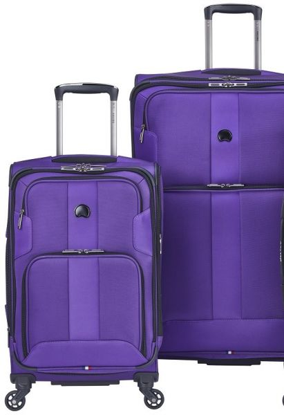 796b01353c01 Delsey Luggage Sky Max 2 Piece Nested Luggage Set, Purple   Bags ...