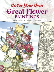 Color Your Own Great Flower Paintings Dover Art Coloring Book