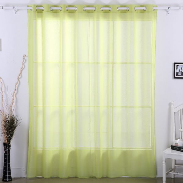Deconovo Sheer Curtain Panels Grommet Wide Curtains For Living Room Gr Green 100 95 Inch One Panel