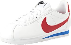 48abe7531cca Nike CLASSIC CORTEZ LEATHER Walking Shoes for Women - White
