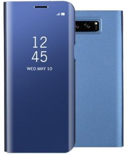 Clear View Standing Cover Case for SAMSUNG Galaxy Note 8 - Blue