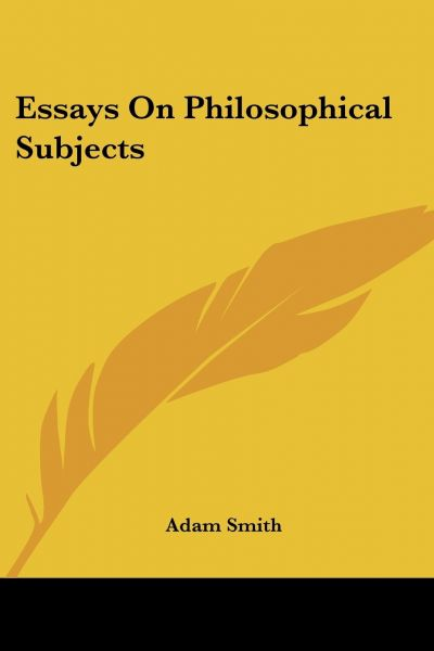 Essays On Philosophical Subjects  Souq  Uae