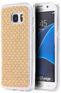 Reiko Samsung Galaxy S7 Edge Jewelry Bling Rhinestone Case In Blue Cases, Covers & Skins Consumer Electronics