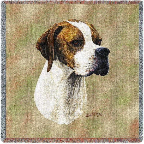 Pure Country 3382-LS English Pointer Pet Blanket, Canine on Beige ...