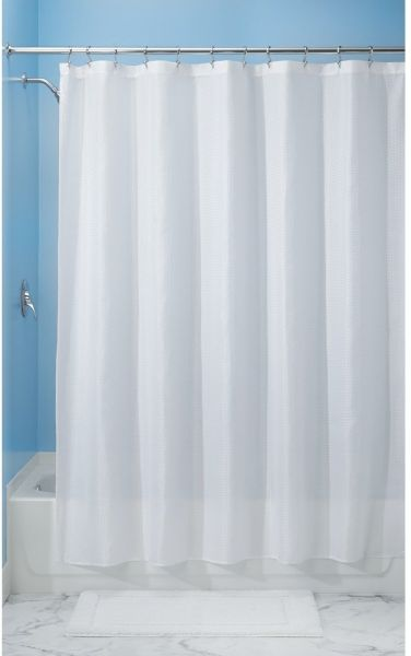 InterDesign Carlton Soft Fabric Shower Curtain 54 Inch By 78 White 22880