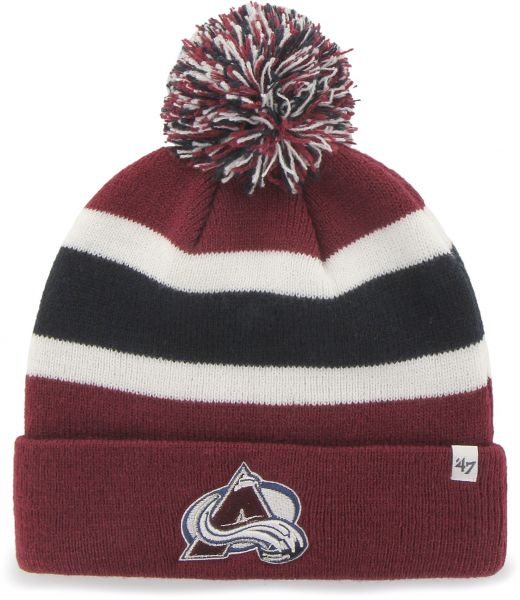 sale retailer c1e95 22a60 promo code pittsburgh penguins nhl floppy hat b3cbd 1f5fd  new zealand nhl  47 brand breakaway cuff knit hat with pom maroon 0dbc7 5572f
