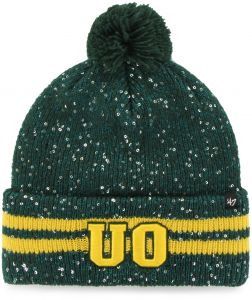 89e0f77a17a  47 NCAA Oregon Ducks Women s Amelia Cuff Knit Beanie with Pom