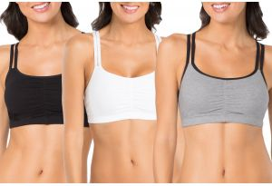 8d99449339 Fruit of the Loom Women s Cotton Pullover Sport Bra