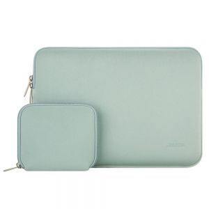 MOSISO Water Repellent Lycra Sleeve Bag Cover for 11-11.6 Inch MacBook Air, Ultrabook Netbook Tablet with Small Case, Mint Green
