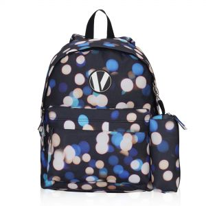 fc283834997f Veegul Cute School Backpack Small Printed Backpack with Pencil Case for Kids  Polka Dot