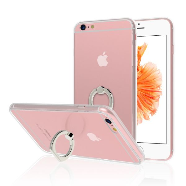 231f023d2a JETech Case for Apple iPhone 6s and iPhone 6, Ring Holder Kickstand Cover ,  Shock-Absorption Bumper, HD Clear | Souq - UAE
