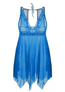 0945bb8432592 ADORNEVE Women Irregular Sleepwear Lace Halter Strap Mini Dress Nightgown  Outfit
