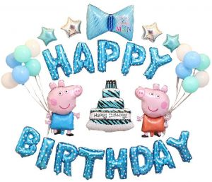16 Inch Peppa Pig George Foil Balloon Aluminum Balloons Happy Birthday Party Decor