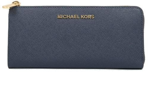 Michael Kors Navy Leather For Women - Zip Around Wallets  f5a1942db0