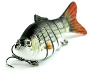 10cm/18g Lifelike 6 Jointed Sections Fishing Lure Crankbait Hard Bait Fish Hook Fishing Tackle