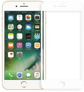 da1862d12 Tempered glass screen protector 5d for iPhone 7 Plus - white