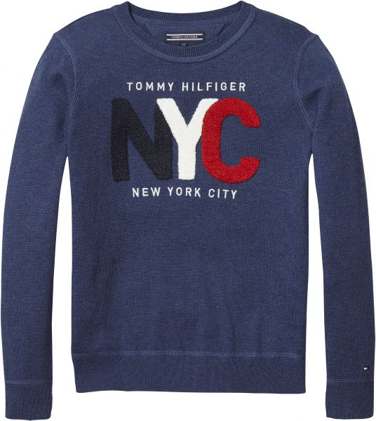 234b4c74e1a5 Tommy Hilfiger Crew Neck Sweater for Boys - 18 to 24 Months