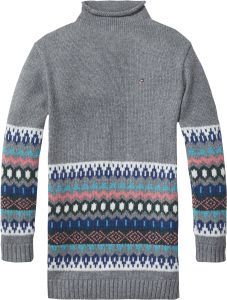 Tommy Hilfiger Fair Isle Sweater Dress for Girls - Mid Grey Heather 1f5555961
