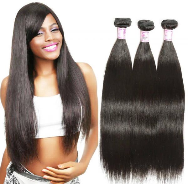 7a Grade Brazilian Virgin Hair Straight 3 Bundles Unprocessed Human