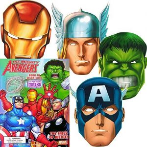 size 40 cfaf2 a9368 Marvel Avengers Coloring Book with 6 Avengers Masks (Pop-Out)  The  Incredible Hulk, Thor, Iron Man, Captain America, and More!