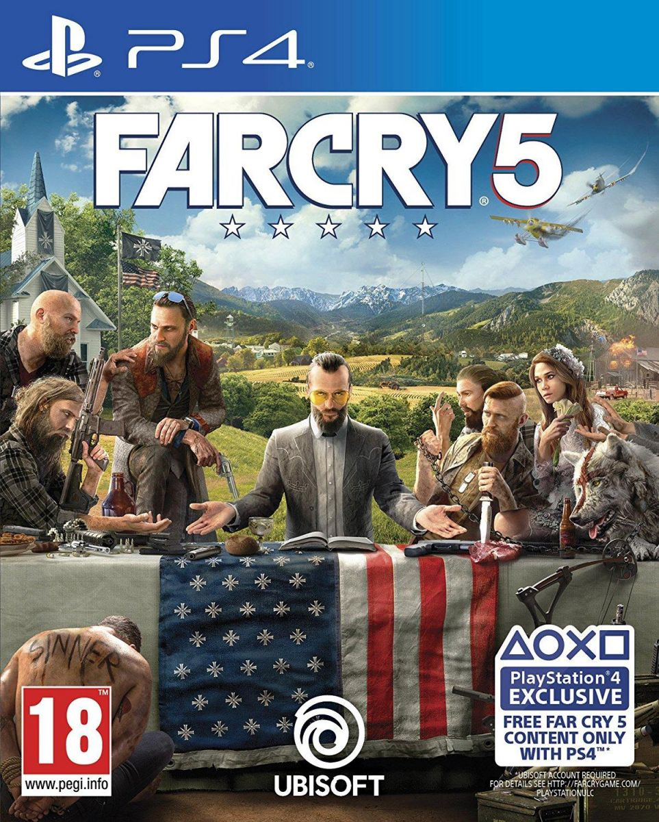 Far Cry 5 for Sony Playstation 4 Pro by UbiSoft Region 2 PAL Rated 18 PEGI Released On Feb 2018