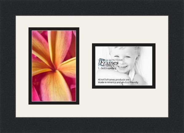 ArtToFrames Collage Photo Frame Double Mat with 2 Openings and Satin ...