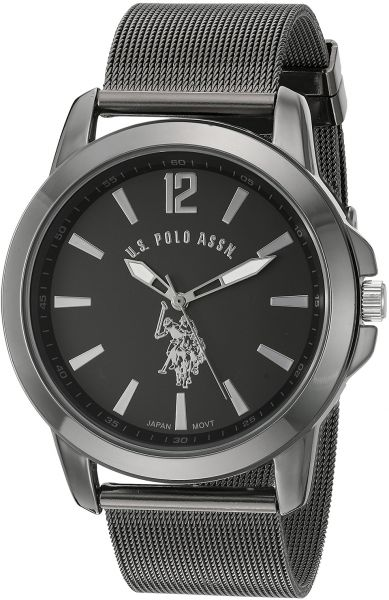 10c67501bff U.S. Polo Assn. Men s Black Dial Alloy Band Watch - USC80384 ...
