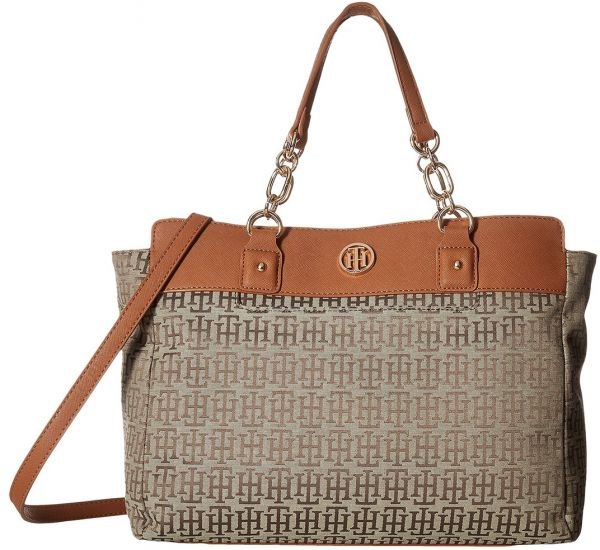 50c322b8a79 Tommy Hilfiger Evaline Convertible Satchel Bag for Women - Tan ...