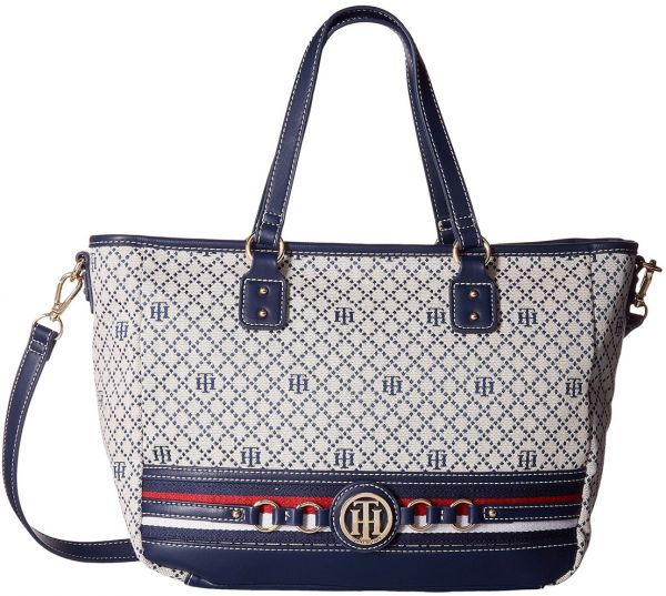 14cbc29af22 Tommy Hilfiger Payton Tote Bag for Women - Navy   White   Bags ...